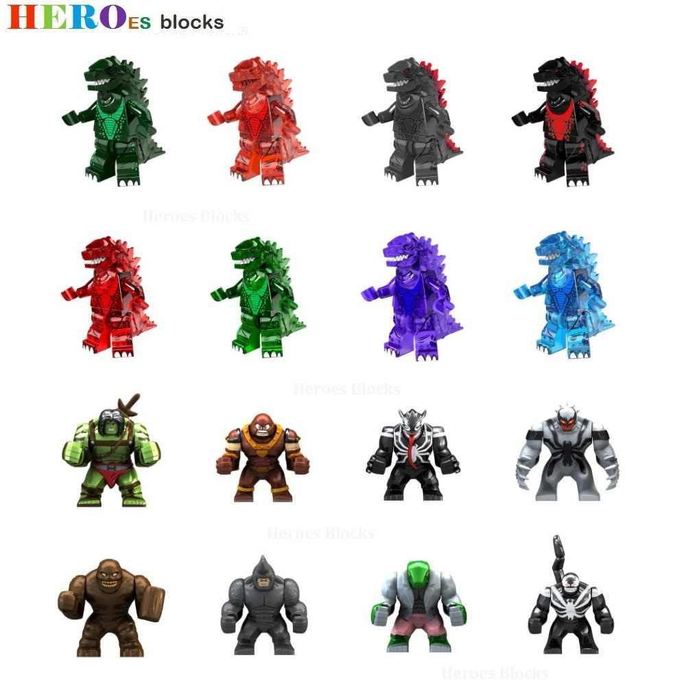 Monstruo gigante Gojira enmascarado Kamen Rider claveface Venom Rhino Juggernaut lagartija bloques de construcción figura ladrillos compatibles Legoed