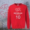 Switzerland nation team hoodies men sweatshirt sweat suit hip hop streetwear tracksuit footballer CHE CH Swiss casual loose 2017