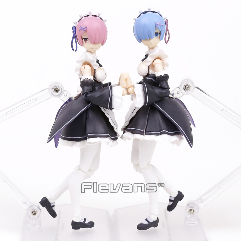 Re:ZERO Starting Life In Another World Rem figma 346 / Ram figma 347 PVC Action Figures Collectible Model Toys cd kraftwerk computer world re canvass