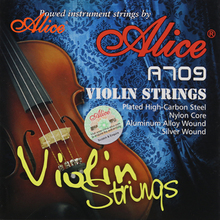 Alice High Quality A709 Nylon Core Aluminum Alloy Wound Violin Strings Silver Wound