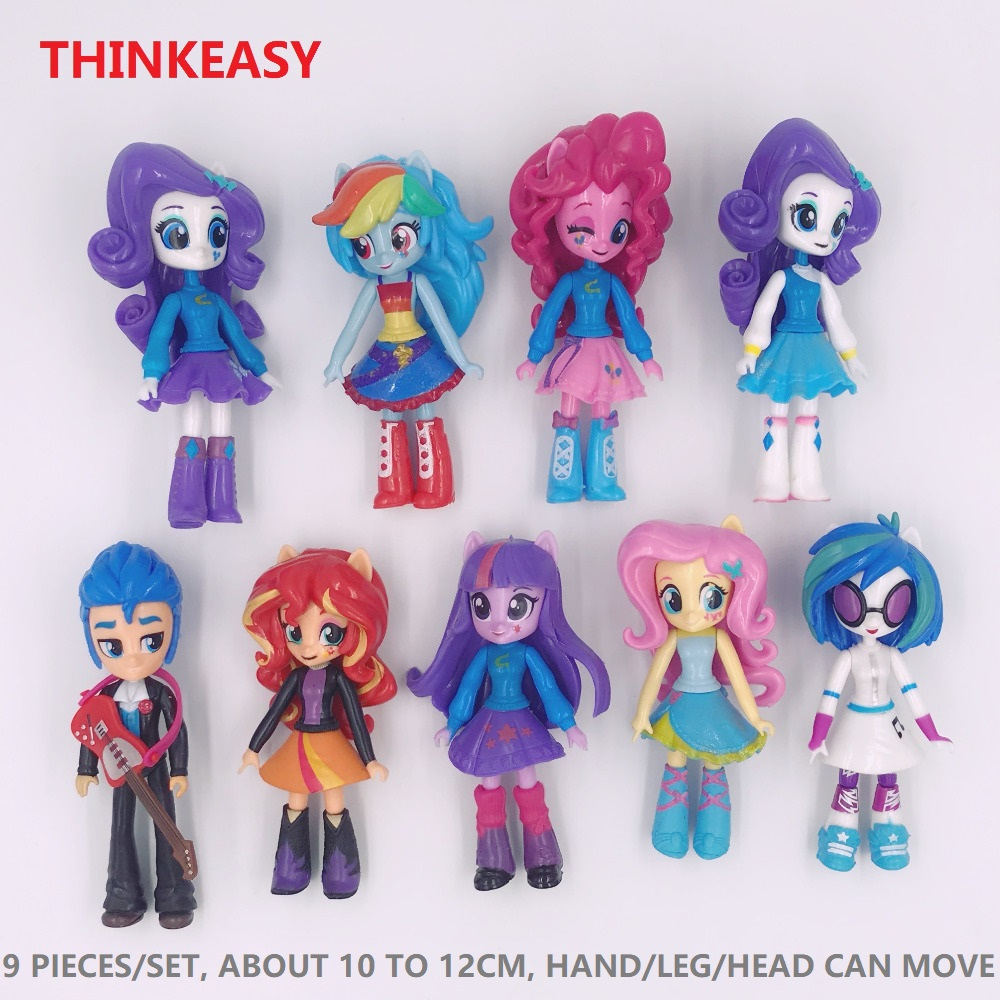 ThinkEasy 13cm mi Lindo pequeño PVC Lovely Horse Poni Birthday Party - Figuritas de juguete