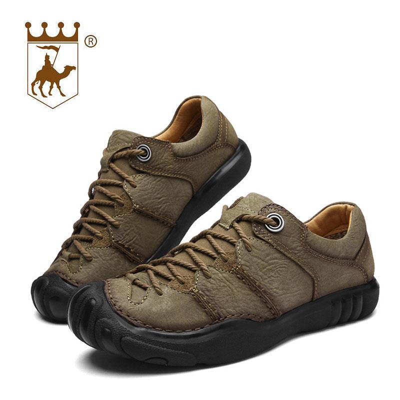 BACKCAMEL äkta läder utomhus man casual skor manliga skor andas - Herrskor - Foto 3