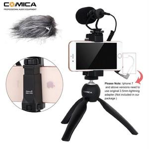 Image 2 - Comica Smartphone Video Kit CVM VM10 K2 Filmmaker Mini Tripod with Mini Video Microphone Rig for iPhone Samsung Huawei Phones
