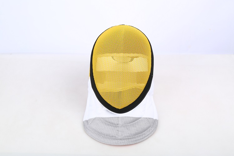 CE Approval Yellow Color Fencing Equipments Fencing Mask 350NW Removable Lining Masks