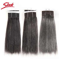 Sleek Colorful Hair Brazilian Hair Weave Bundles Straight Hair bundles #44 #34 #280 51# Piano Gray Remy Human Hair Extensions