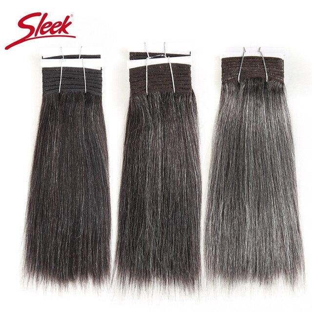מלוטש צבעוני שיער ברזילאי שיער Weave חבילות ישר שיער חבילות #44 #34 #280 51 # פסנתר אפור רמי שיער טבעי הרחבות