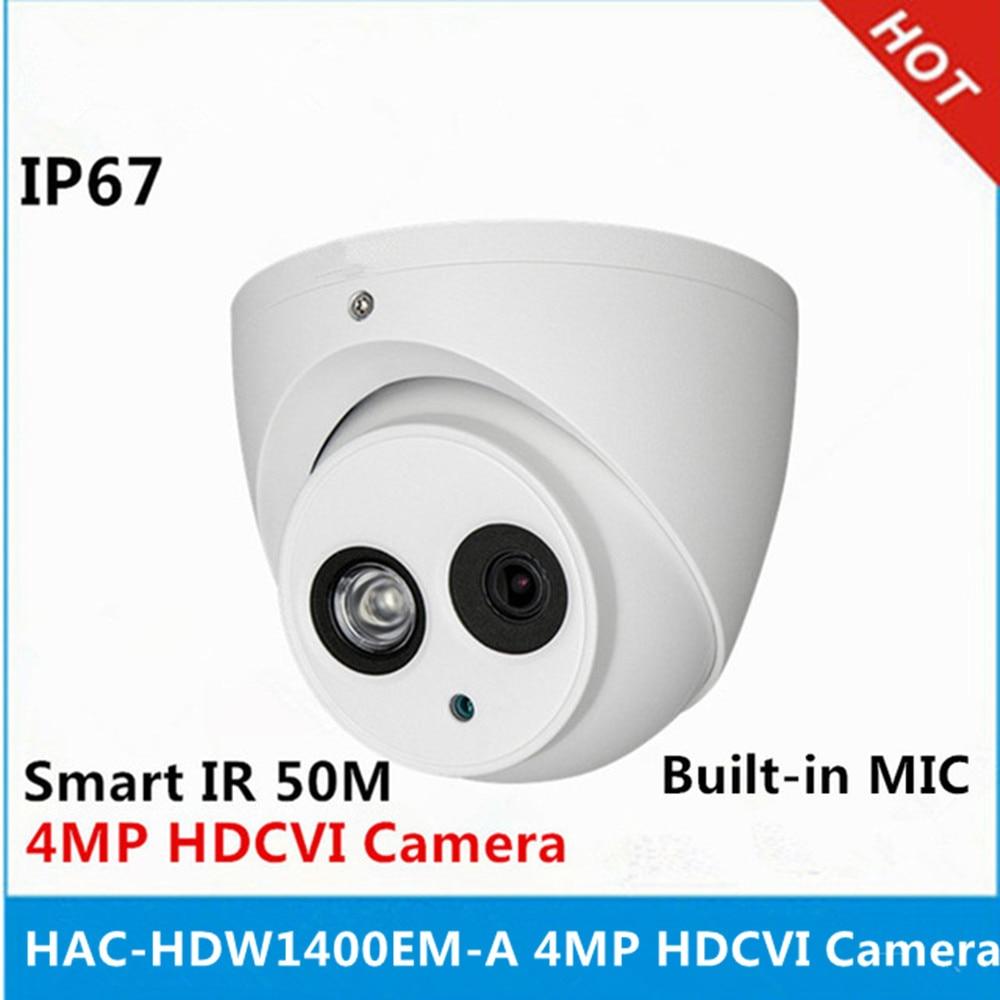 DH HAC HDW1400EM A 4MP IR 50M IP67 built in MIC Aluminium shell replace HAC HDW1400EM