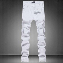 New Arrival Mens Ripped Jeans Famous Brand designer Biker Jeans Men White Patchwork Skinny Jeans Hip Hop Jeans Homme Plus Size