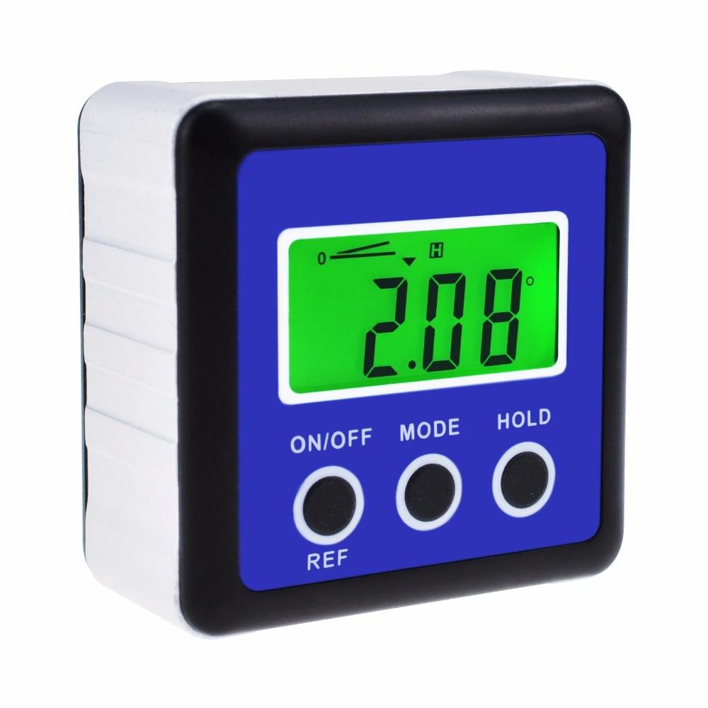 Digital Protractor Angle Gauge Finder Bevel Box Inclinometer Level Meter Magnetic Base digital protractor inclinometer angle meter digital bevel box 4 x 90 degree range magnetic base