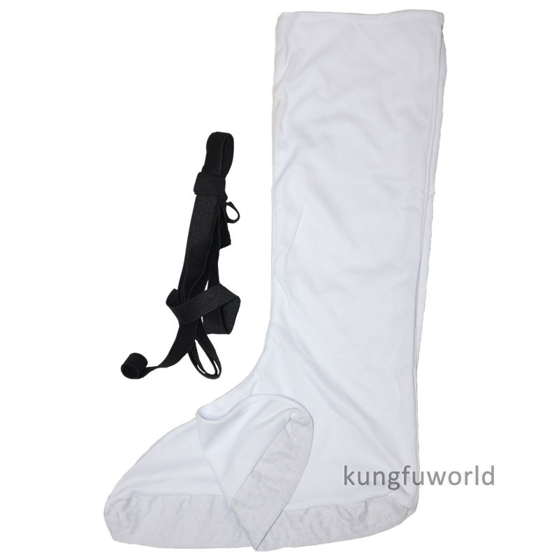 White Cotton Shaolin Monk Kung fu Socks to Match Martial arts Wushu Tai chi Uniforms Wing Chun Suit
