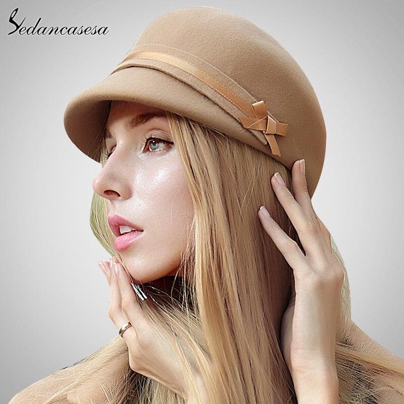 Sombrero de Jazz de cuero genuino 100% para hombre sombrero de fieltro de  piel de f314fd20a72f