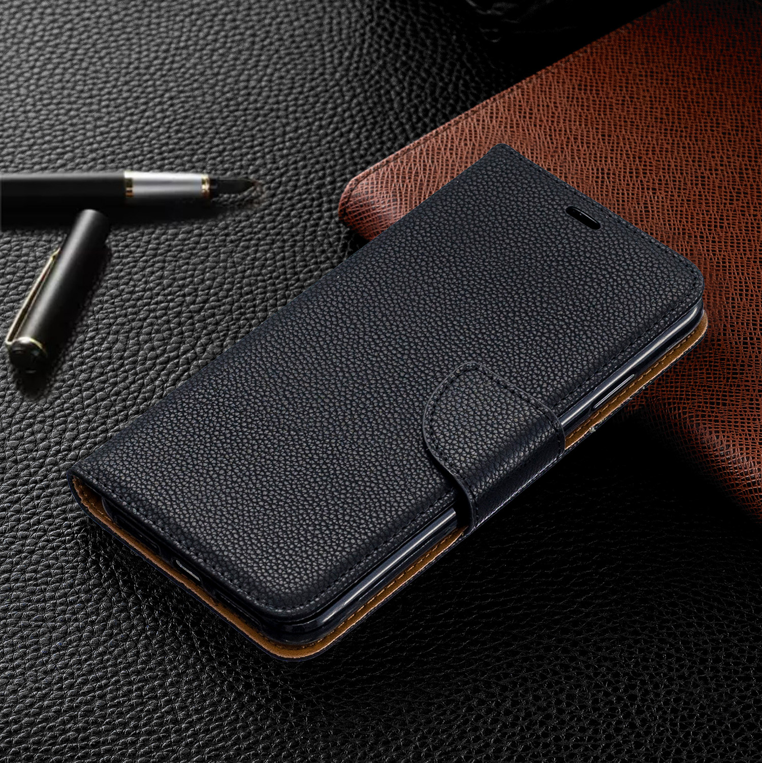 Image 2 - Wallet Phone Case for iPhone 11 Pro Max Xr X Xs Max 8 7 6 6s Plus Flip PU Leather Cover Stand Magetic Closure with Card Holder-in Flip Cases from Cellphones & Telecommunications