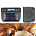 Hot sale! High Quality Black Solar Sun Power Car Auto Fan Air Vent Cool Cooler Ventilation System Radiator Fit for Fits any car