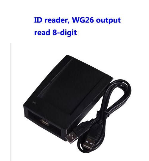 RFID reader, USB desk-top card dispenser, USB EM card reader,Read 8-digit, WG26 format output ,sn:09C-EM-26,min:5pcs rainforests reader