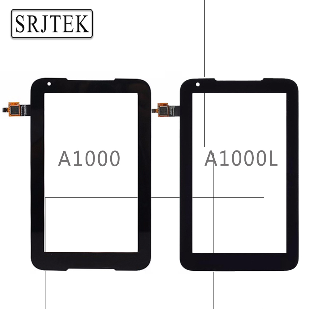 Srjtek 7 Touch Panel for Lenovo Tablet IdeaTab A1000 A1000L Touchscreen Digitizer Sensor LCD Display Matrix Screen Tablet Parts original for asus zenpad 3s 10 z500m p027 z500kl p001 lcd display matrix touch screen digitizer sensor tablet pc parts assembly