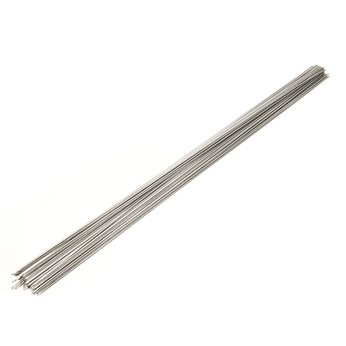 Mayitr 50pcs Stainless Steel Barbecue Skewer BBQ Meat Kebab Sticks Needle 35cm For Kitchen Camping Tools