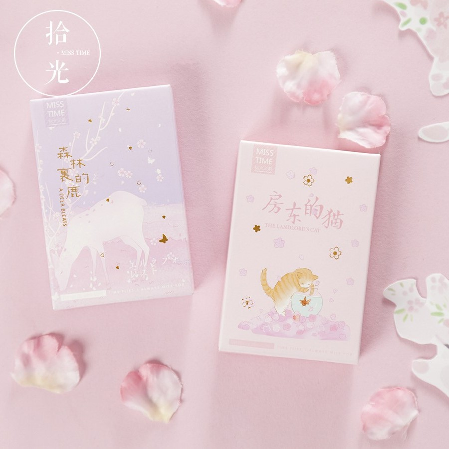 28 Sheets/Set Cute Landlord's Cat And Nara Deer Lomo Card Mini Postcard Message Card Gift Greeting Card