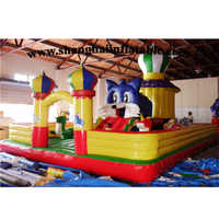 Popular good quality inflatable fun city/ giant inflatable playgrounds
