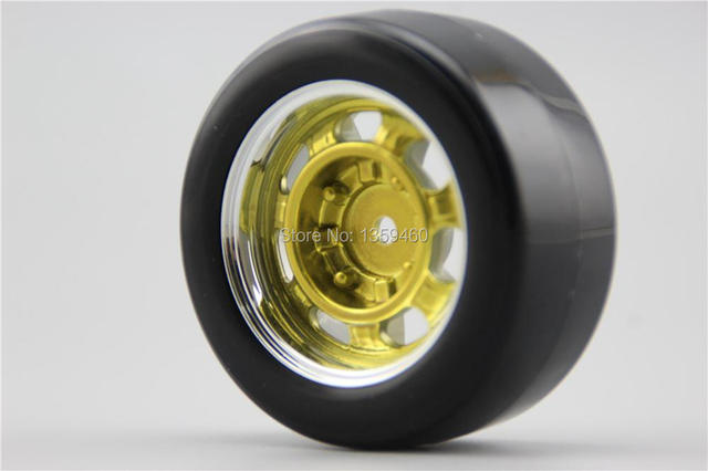 Buy 4pcs Rc Hard Slick Drift Tires Tyre Wheel Rim