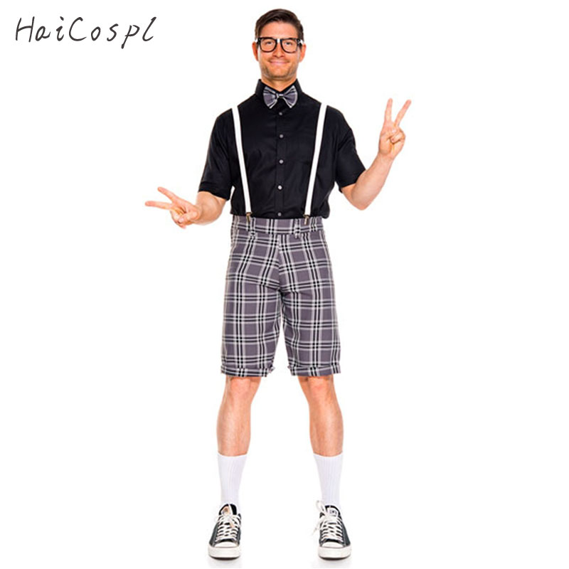Oktoberfest Men's Holidays Costumes Beer Festival Costume Adult Gentleman Black Red Lattice Suit With Tie Size M/XL 2017 New