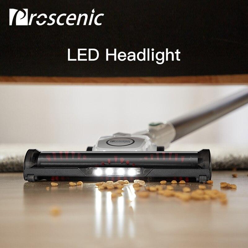 Proscenic P9 Vacuum Cleaner Cordless Stick Vacuum Power Suction 15000Pa Handheld Vacuum with LED Headlight 2-in-1 Vacuum