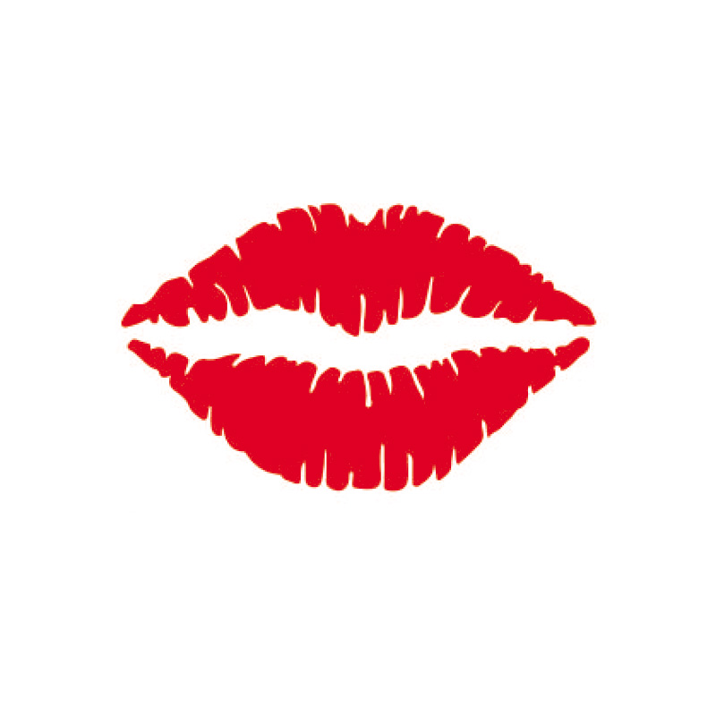 HonC Kiss Lip Sexy Girl Lipstick Car Wall sticker Decals Vinyl Car Window Home decoration waterproof personality Stickers