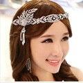 2017 new fashion Korean Great Gatsby Crystal Pearl wedding jewelry hair accessories bridal tiara crown tiaras and crowns
