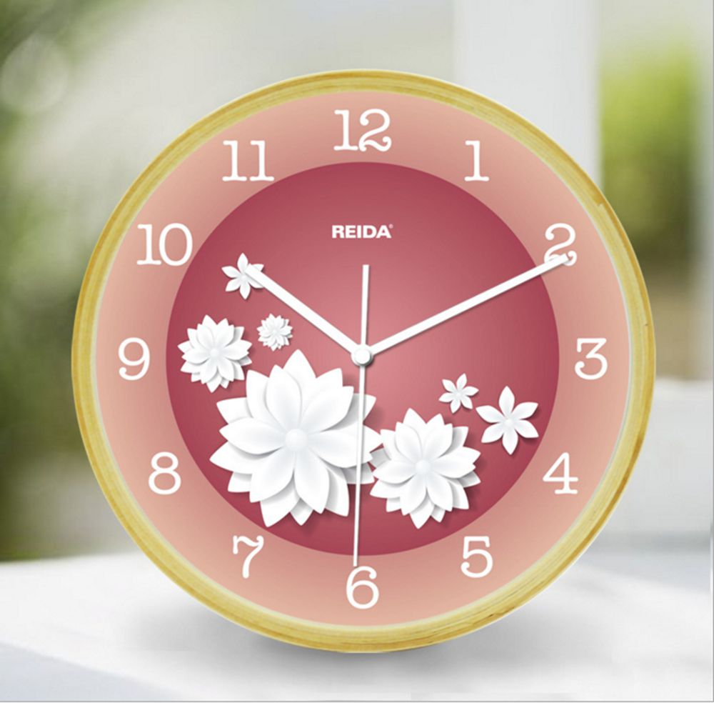 Reida Contracted Birch 8 Inch Bedroom Wall Clock Contemporary Sitting Room Mute Anese Rural