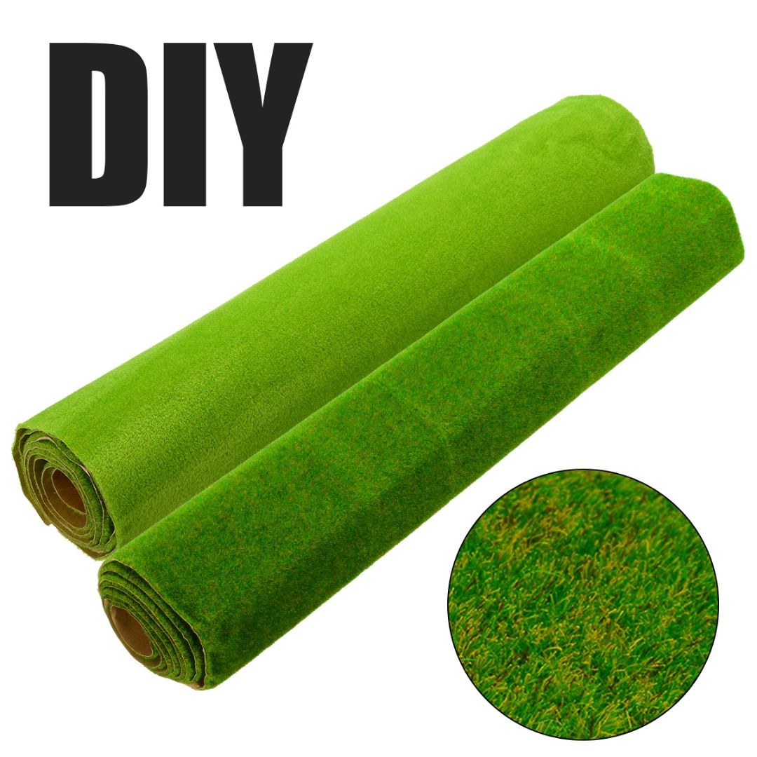 25x25cm Miniature Artificial Grass Lawn Turf Mat Landscaping DIY Ornament Garden Yard Decoration