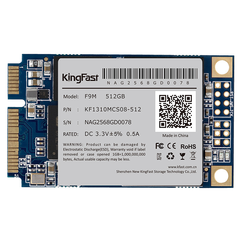F9M Kingfast stable performance PC internal Msata SSD SATAIII MLC 512GB with cache 512Mb Solid State Drive for desktop/ laptop