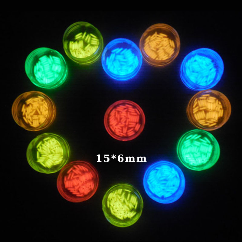 1PC 15*6mm Automatic Luminous 15 years Tritium Keychain Key Ring Fluorescent Tube Lifesaving Emergency Lights Camping Equipment ...