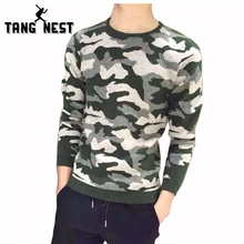 TANGNEST Camouflage Sweater Men 2017 Autumn Winter Men's Casual Sweater Fashion Slim Soft Men Sweater Cardigan Masculino MZM434