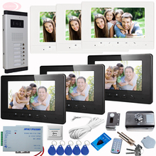 SUNFLOWERVDP Video Intercom Kit For A Private House Monitors 7″ With Audio + Rfid Unlock Electronic Lock Video Intercom System