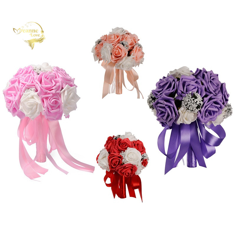 Wedding Flowers By Price: Cheap Price High Quality 2019 Colorful Wedding Bouquets