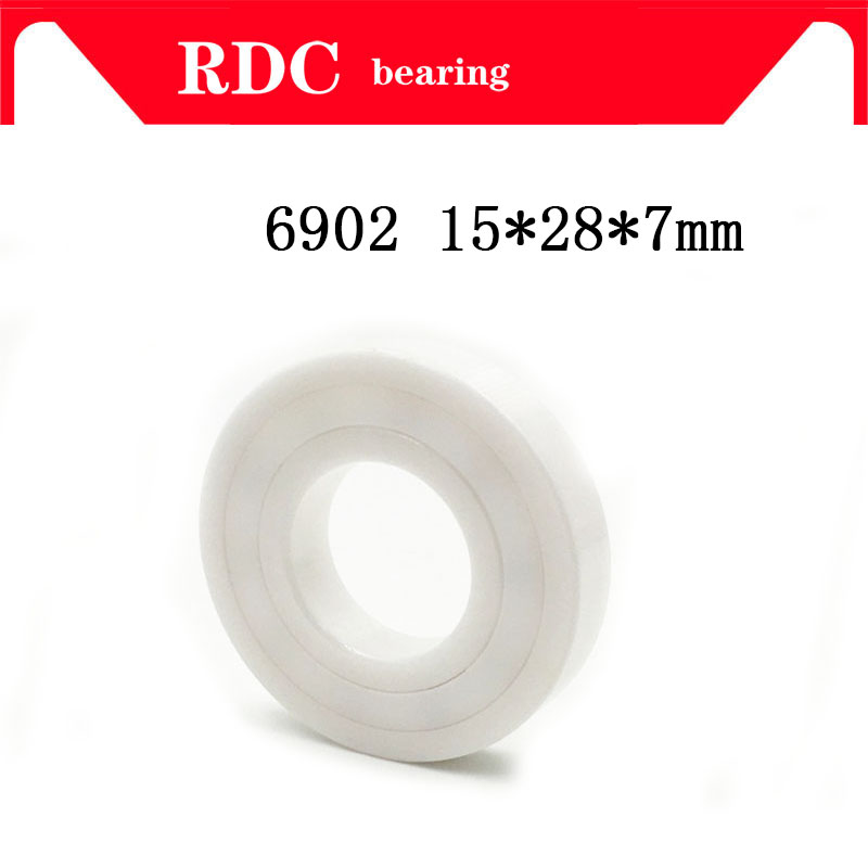 Free Shipping  6902 15X28X7 Mm High Speed Double Sided Sealed Ceramic Bearings With Seals (dust Cover)  Of  15*28*7mm