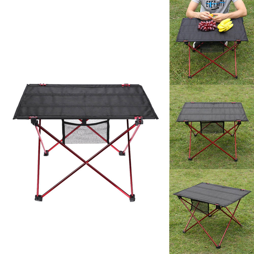 Aluminum Alloy Oxford Cloth Table Outdoor Ultralight Portable Folding Table Camping Picnic Table Outdoor Barbecue Fishing Chairs new outdoor folding picnic table brown color ultralight aluminum camping table fishing barbecue