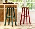 Американская деревня ресторан барные деревянные стул стул stools в европейском стиле синий