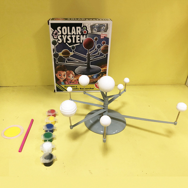 Youth-DIY-Lab-Toy-Set-Science-Teaching-Series-Solar-System-Planetarium-Model-Science-Experiment-Nine-Planets