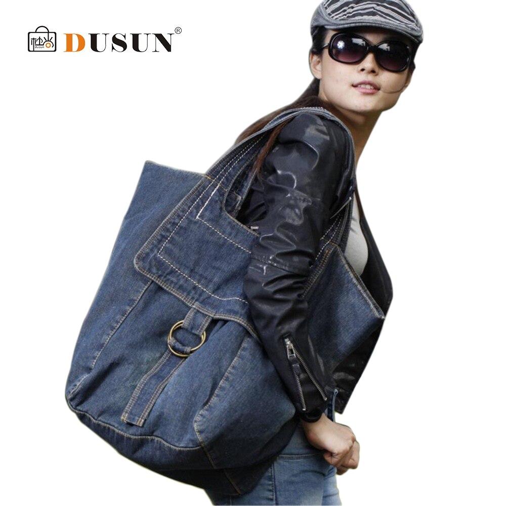 High Quality Denim Handbags Large Size Women bag Fashion Women Travel Bags Shopping Shoulder bags Zipper