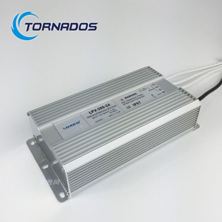 Hohe qualität 300 Watt 220vac eingang 24 V dc konstante spannung wasserdicht IP67 led-treiber stromversorgung transformator LPV-300-24