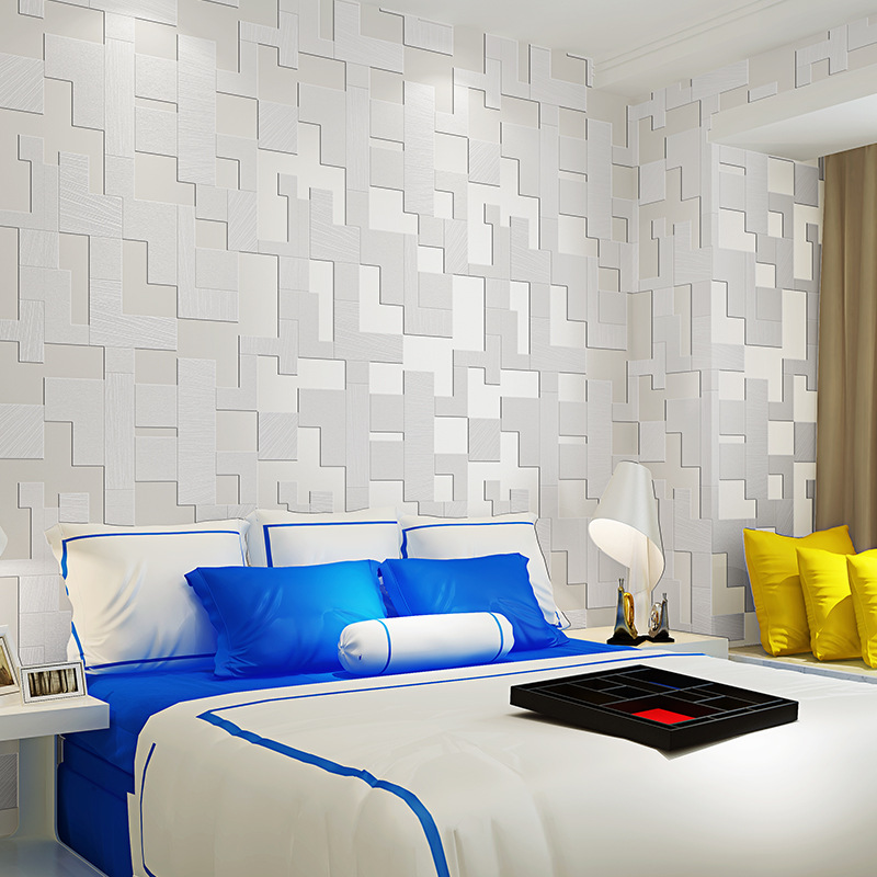 wallpaper for walls 3 d Modern Mosaic Reliefs Wallpaper Bedroom Living Room TV Background 3d Wallpaper papel de parede Beibehang beibehang wallpaper green environmental protection solid color gray blue hotel hotel background wallpaper 3 d papel de parede