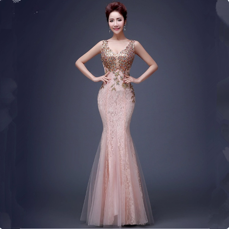 Popular Bridesmaid Gown Long Pink-Buy Cheap Bridesmaid Gown Long ...