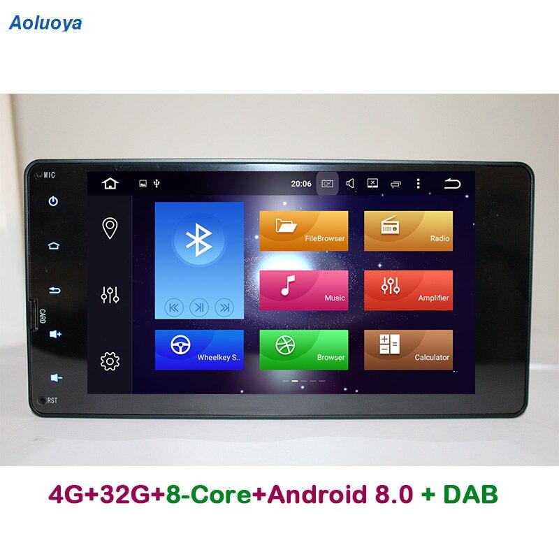 Aoluoya RAM gb ROM 32 4g Octa Núcleo Android 8.0 GPS CARRO DVD Para Mitsubishi Pajero Outlander V93 V97 2012-2015 Esporte L200 2015 2016