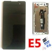 Novo original 1280x720 para sony xperia e5 f3311 f3313 display lcd de toque digitador da tela substituição para sony xperia e5 lcd LCDs de celular    -
