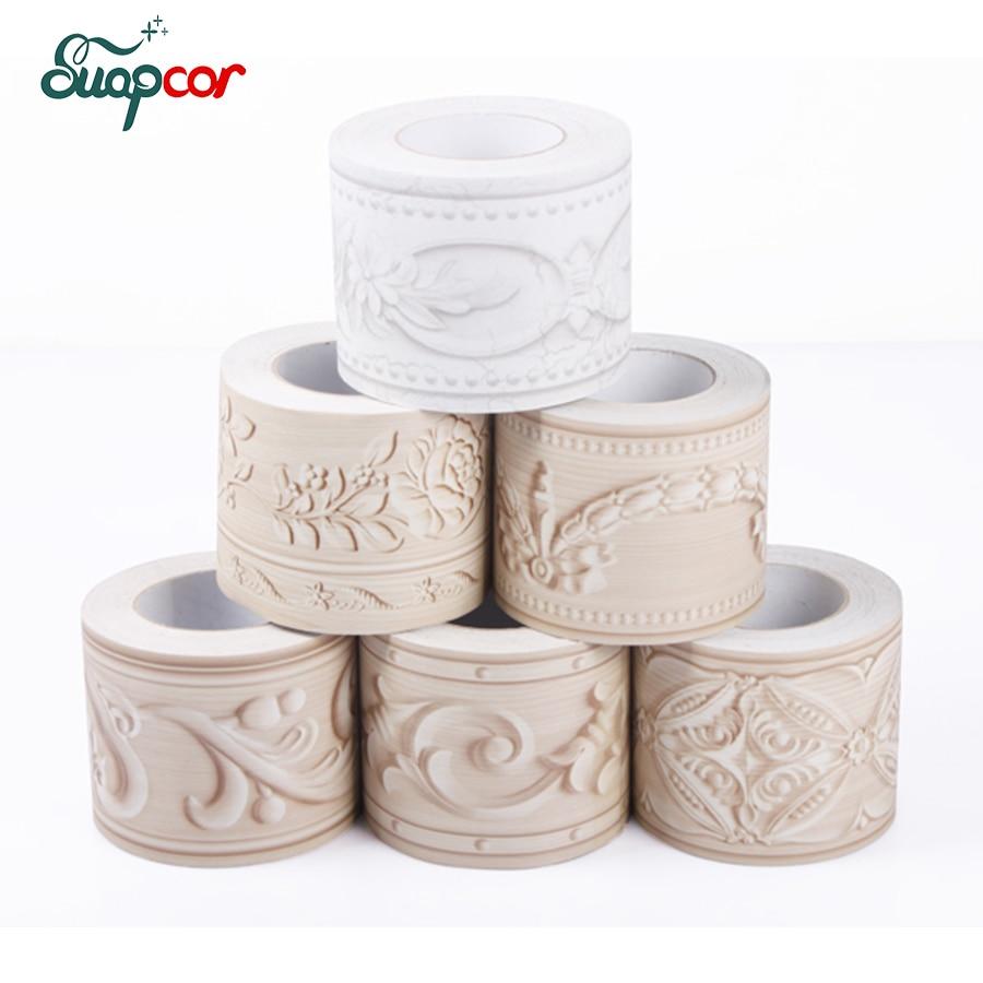 10cmx5m Bathroom vinyl waterproof stickers Self adhesive borders waist lines Wall Sticke ...