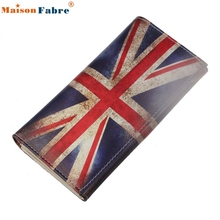 High quality Long Purse British Flag Pattern Women Clutch Wallet Bag Card Holder