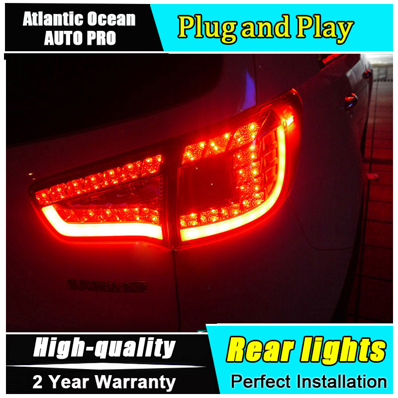 JGRT Car Styling for Kia Sportage R Taillights 2010-2014 Sportage LED Tail Lamp Rear Lamp Fog Light For 1Pair ,4PCS внешние аксессуары myhung kia sportage 2010 2011 r abs 4