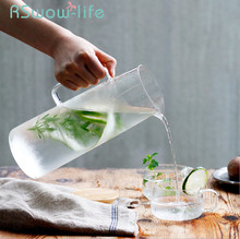 High Borosilicate Heat-resistant Glass Jug Set Explosion-proof Tea Summer Cold Drink Juice Kettle Cup For Drinkware