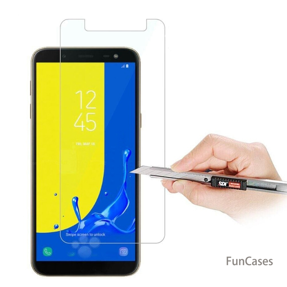 ON SALE 9H 2.5D Tempered <font><b>Glass</b></font> For <font><b>Samsung</b></font> <font><b>Galaxy</b></font> <font><b>A3</b></font> 5 A7 A6 A8 Plus J2 J3 J5 J7 J4 J6 <font><b>2017</b></font> 2018 Upgrade Protective Film image