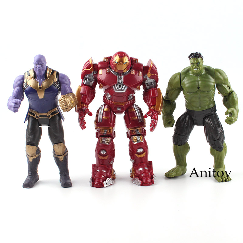 Marvel The Avengers Figure Super Heroes Iron Man Hulk Thanos Flashing Light in Chest PVC Action Figures Toys Gift for Boy 17cm saintgi marvel avengers2 assemble the hulk super heroes pvc 24cm action figure collection model toys dolls free shipping